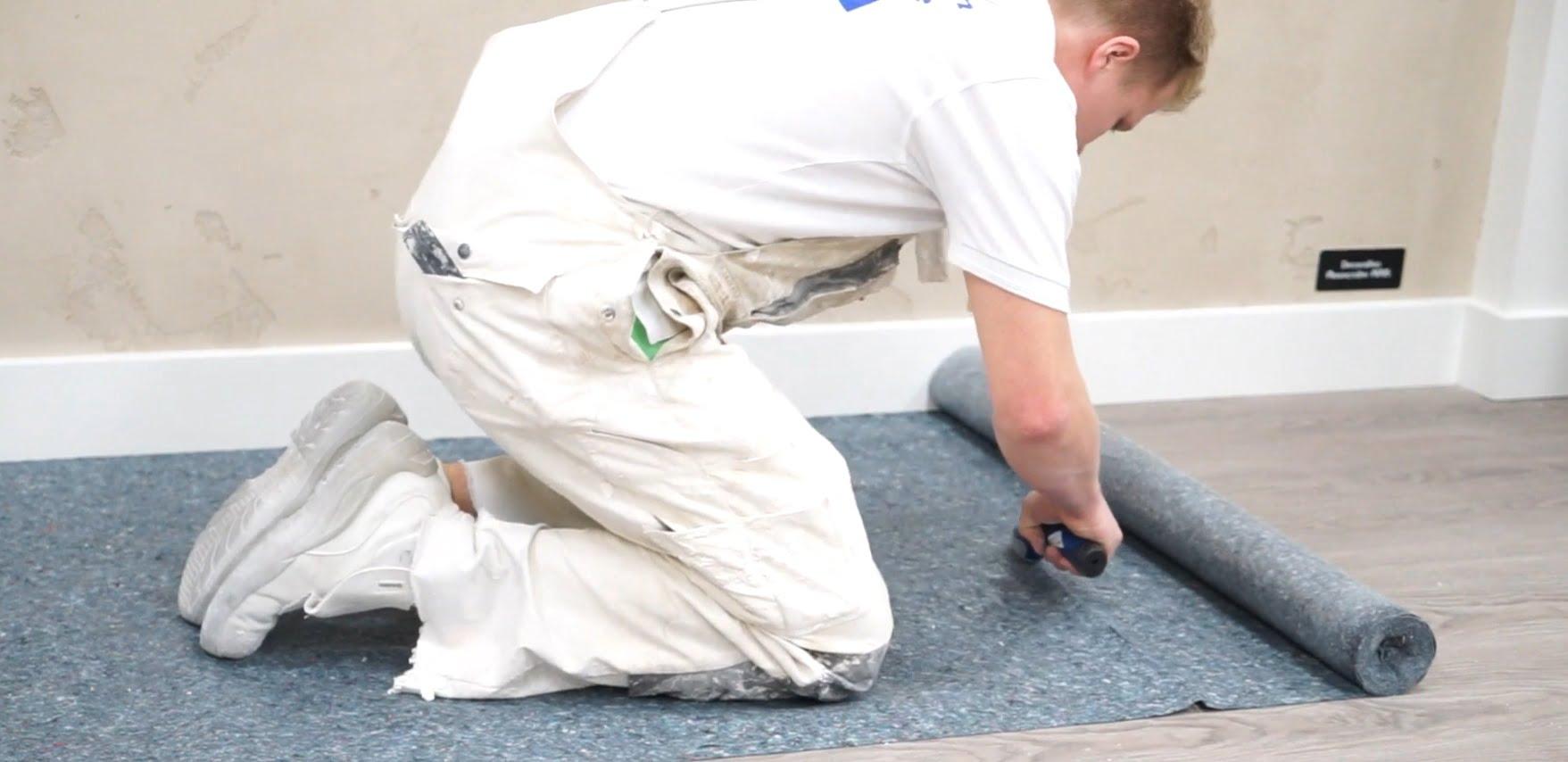 Cách thi công thảm bảo vệ sàn